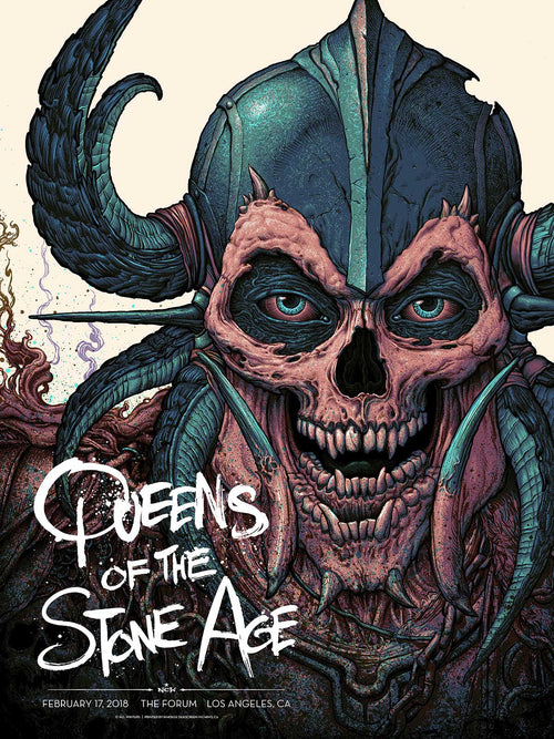 QUEENS OF THE STONE AGE: L.A. FORUM GIG POSTER Kraft Variant S/N'd xx/40