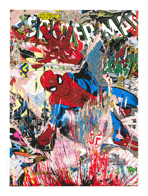 Mr. Brainwash Spider-Man Art Screenprint Poster S/N ##/55 Marvel SOLD OUT IN HOUSE