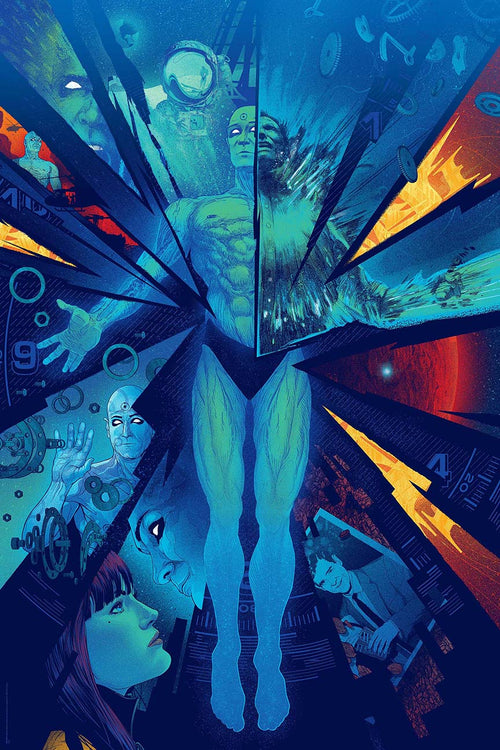Kevin Tong limited screenposter print 2013 Watchmen x/125, S/N'd