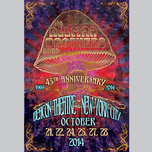 Allman Brothers Band 45th Anniversary NYC by Terry Bradley 2014 S/Nd xxxx/2000