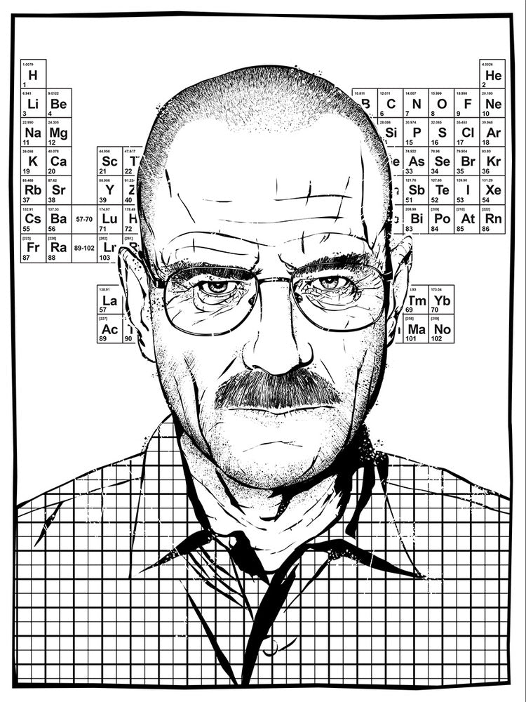 Respect the Chemistry Screenprint Poster Breaking Bad xx/65 Signed/Numbered