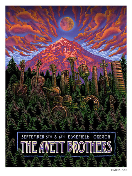 Avett Brothers Screenprint Poster by Emek 2014 S/N's xx/100