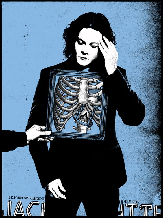 Jack White III 24 Lubbock TX Rob Jones Screenprint Poster xx/240
