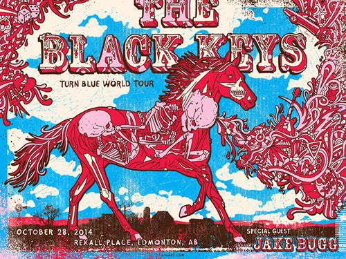 Black Keys Edmonton 2014 Screenprint Poster by Gregg Gordon S/N'd