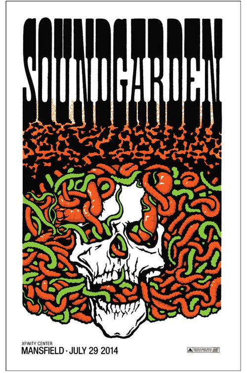 Soundgarden Mansfield MA 2014 Ames Bros xx/100 S/N'd