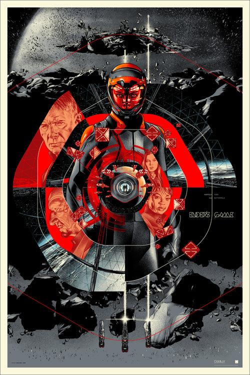 Ender's Game Screen Print Martin Ansin Mondo Poster Limited xxx/340