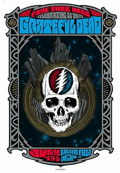 GRATEFUL DEAD - 2015 ALAN FORBES POSTER STEAL YOUR FACE Unsigned, N'd xx/2015