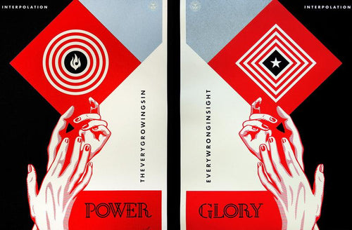 Interpolation by Shepard Fairey Screenprint Poster Set xx/450 S/N'd