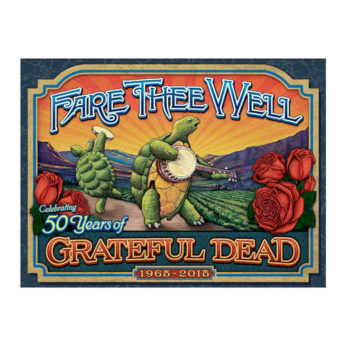 2015 GRATEFUL DEAD Terrapin Crate holographic gold foil poster
