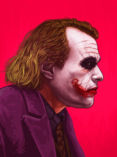The Joker (Dark Knight / Heath Ledger) Portrait - Mike Mitchell / Mondo Limited