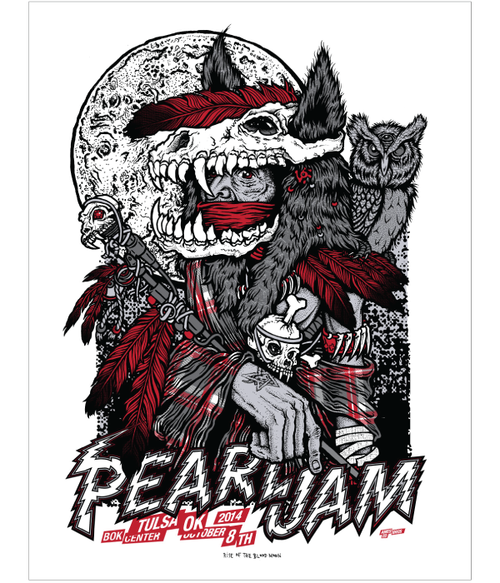 Pearl Jam – Tulsa OK -Ames Brothers 2014 S/N's xx/130