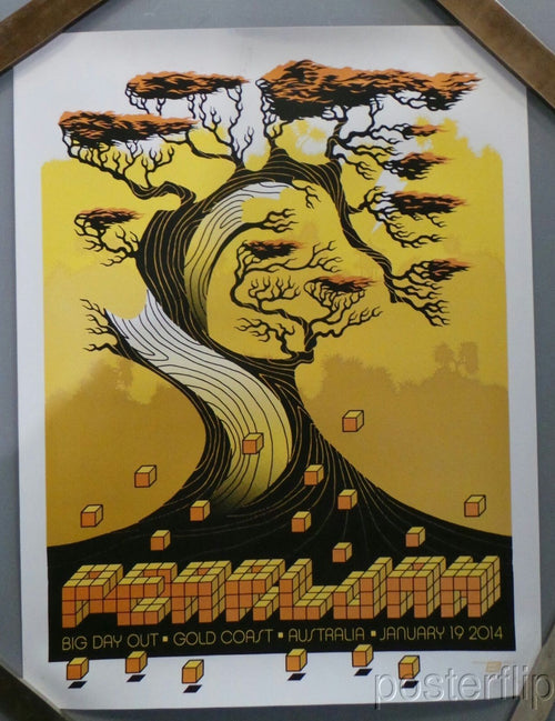 Pearl Jam Big Day Out 2014 Ames Bros Gold Variant Print xx/80
