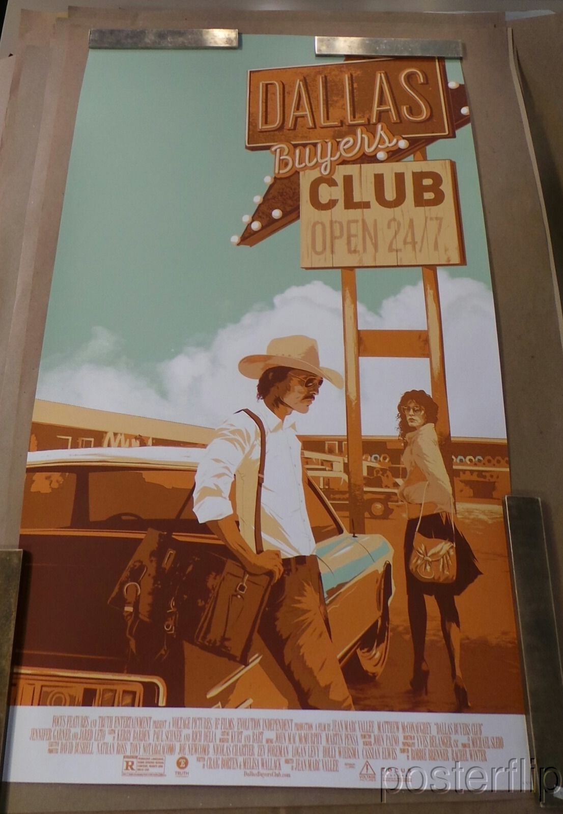 Matt Taylor Dallas Buyers Club Screenprint Numbered xx/325 Mondo