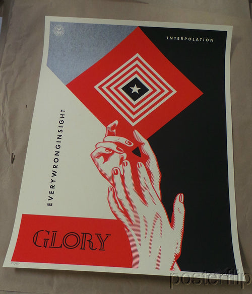Interpolation Shepard Fairey Screenprint Poster xx/450 S/N'd Sold Out Interpol