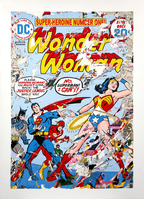 Mr. Brainwash Justice League Wonder Woman Superhero Marvel Screenprint S/N'd xx/100