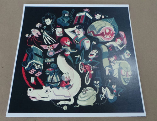 """Crazy for Cult 7"" Limited Edition Poster Print by Glen Brogan 2013 xx/25"