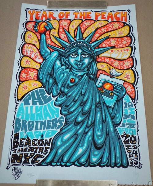 Allman Brothers Band Beacon Theatre NYC 3/9 - 3/25/12 Poster xx/1000 S/N