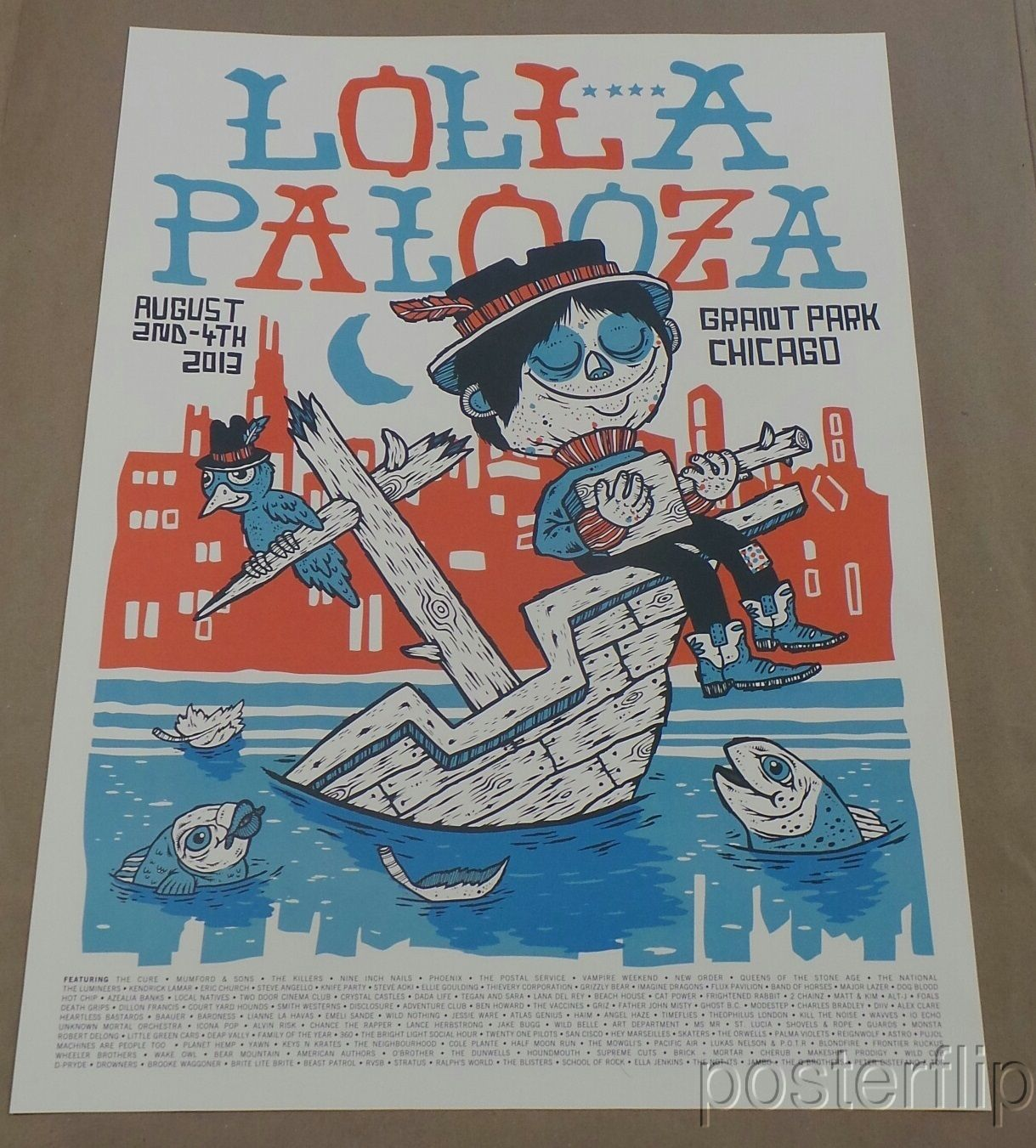 Lollapalooza Poster 2013 - Commemorative Edition