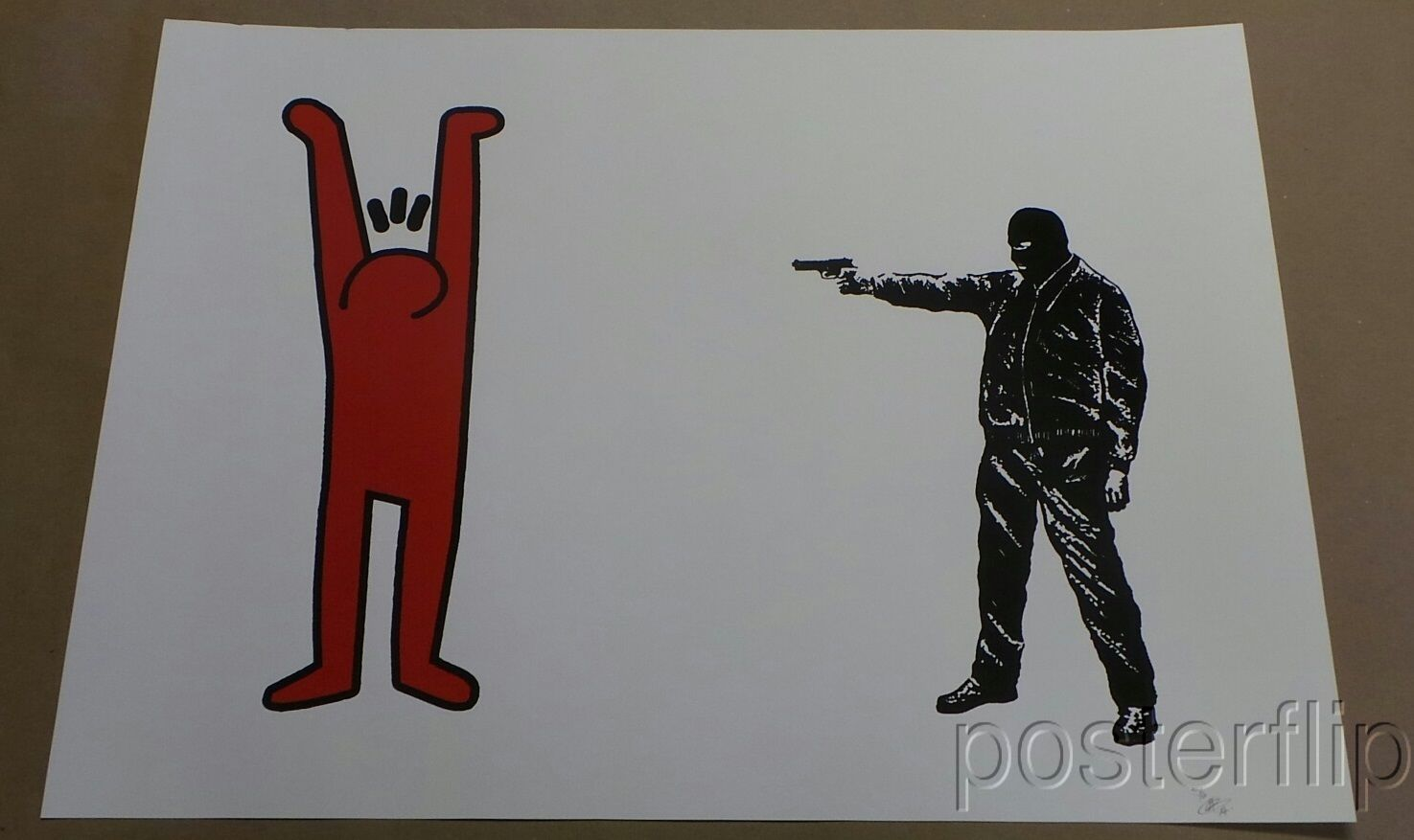 You Haring a Laugh? Red Screen Print Poster Limited Edition xx/6 S/N'd