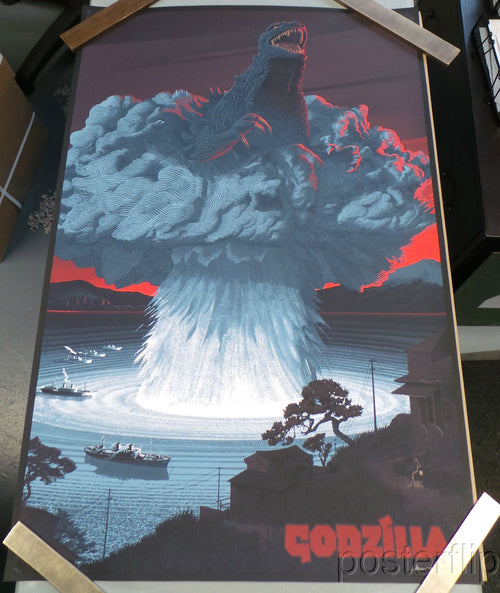 Godzilla Screenprint Poster Limited Edition xx/350 S/N'd Laurent Durieux
