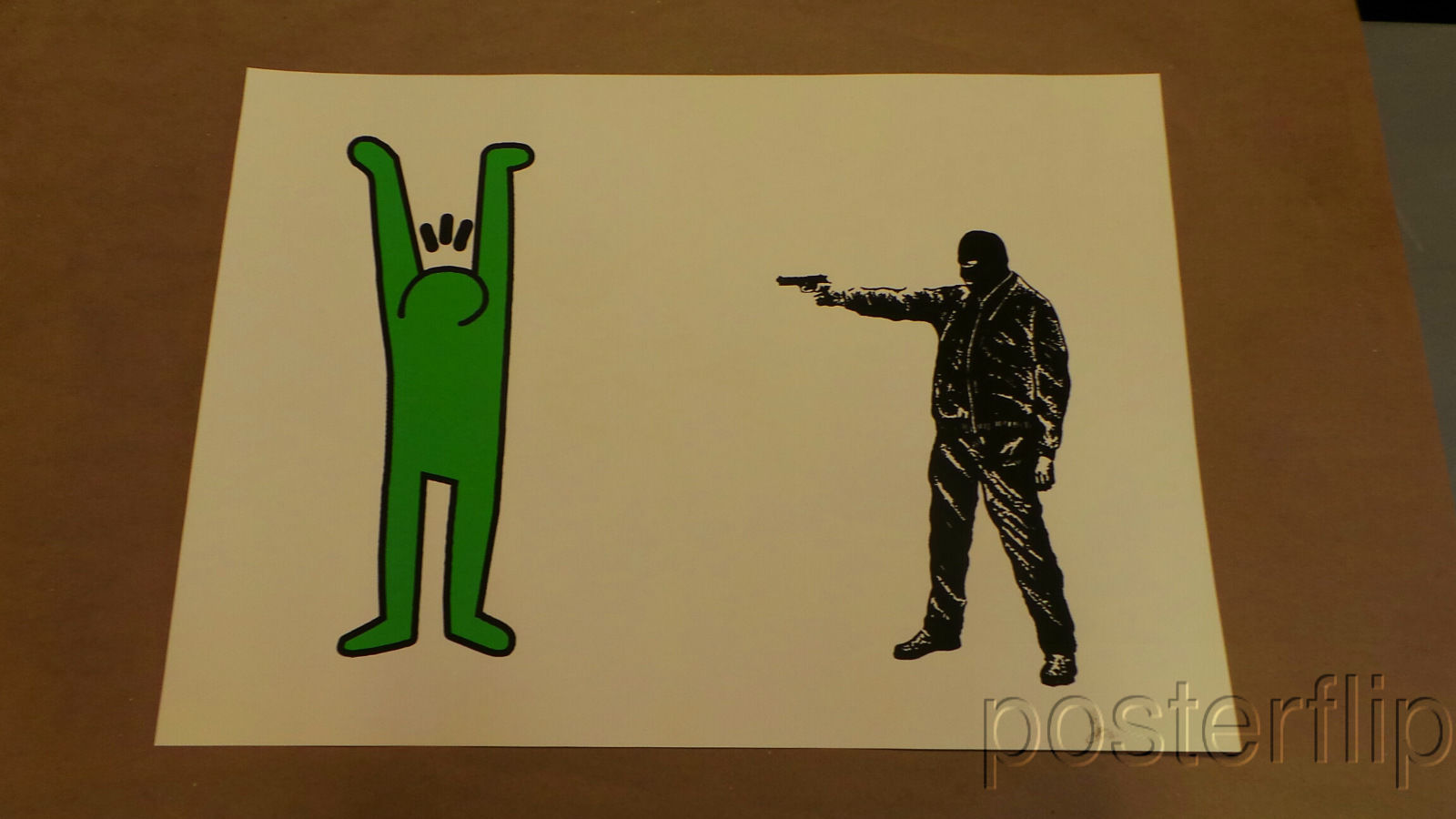 You Haring a Laugh? Green Screen Print Poster xx/6 S/N'd Lewis Bannister