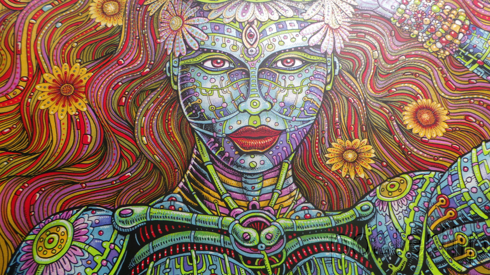 Electric Daisy Carnival 2016 Emek Screenprint Poster xx/100 Signed/Numbered
