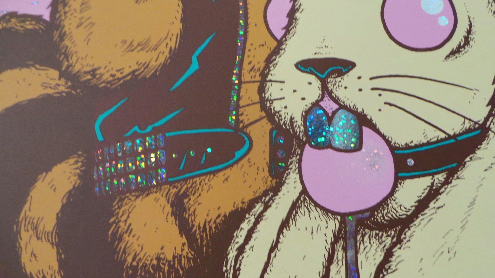 Queens of the Stone Age Jermaine Rogers Detroit Screen Print Sparkle Foil Poster