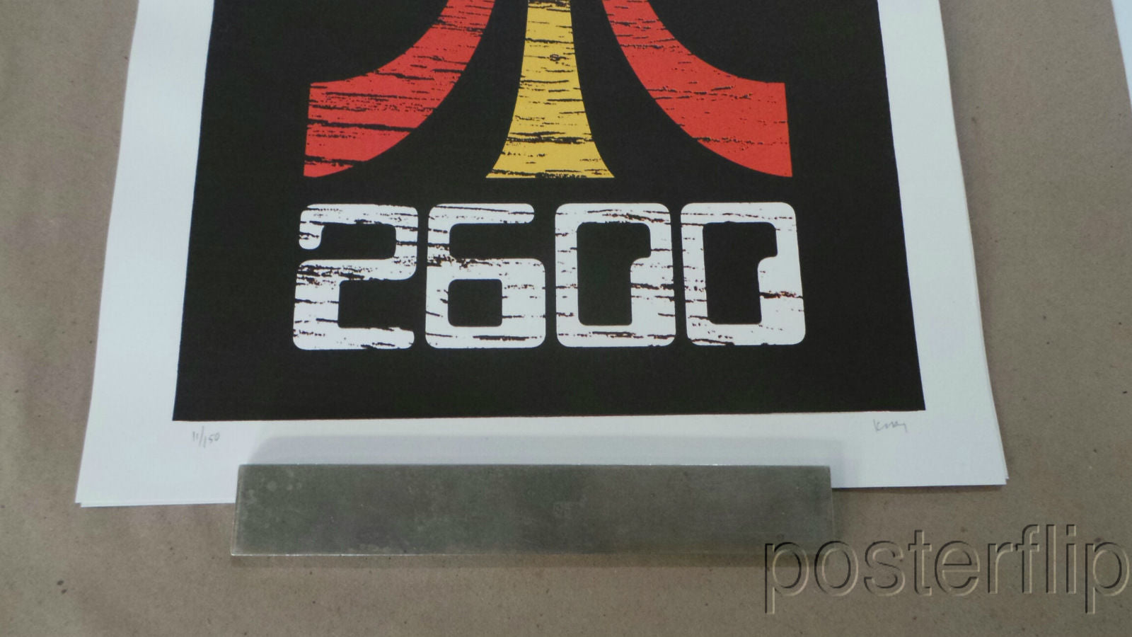 2600 Screen Print Poster Powerslide Design xx/150 S/N'd Atari