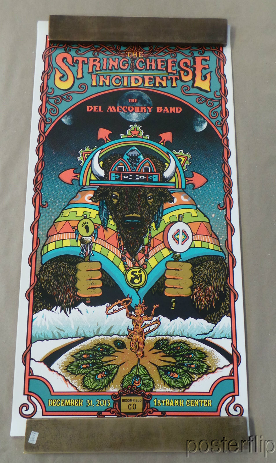 String Cheese Incident NYE 2013 20th Anniversary Triptych Screenprint Poster