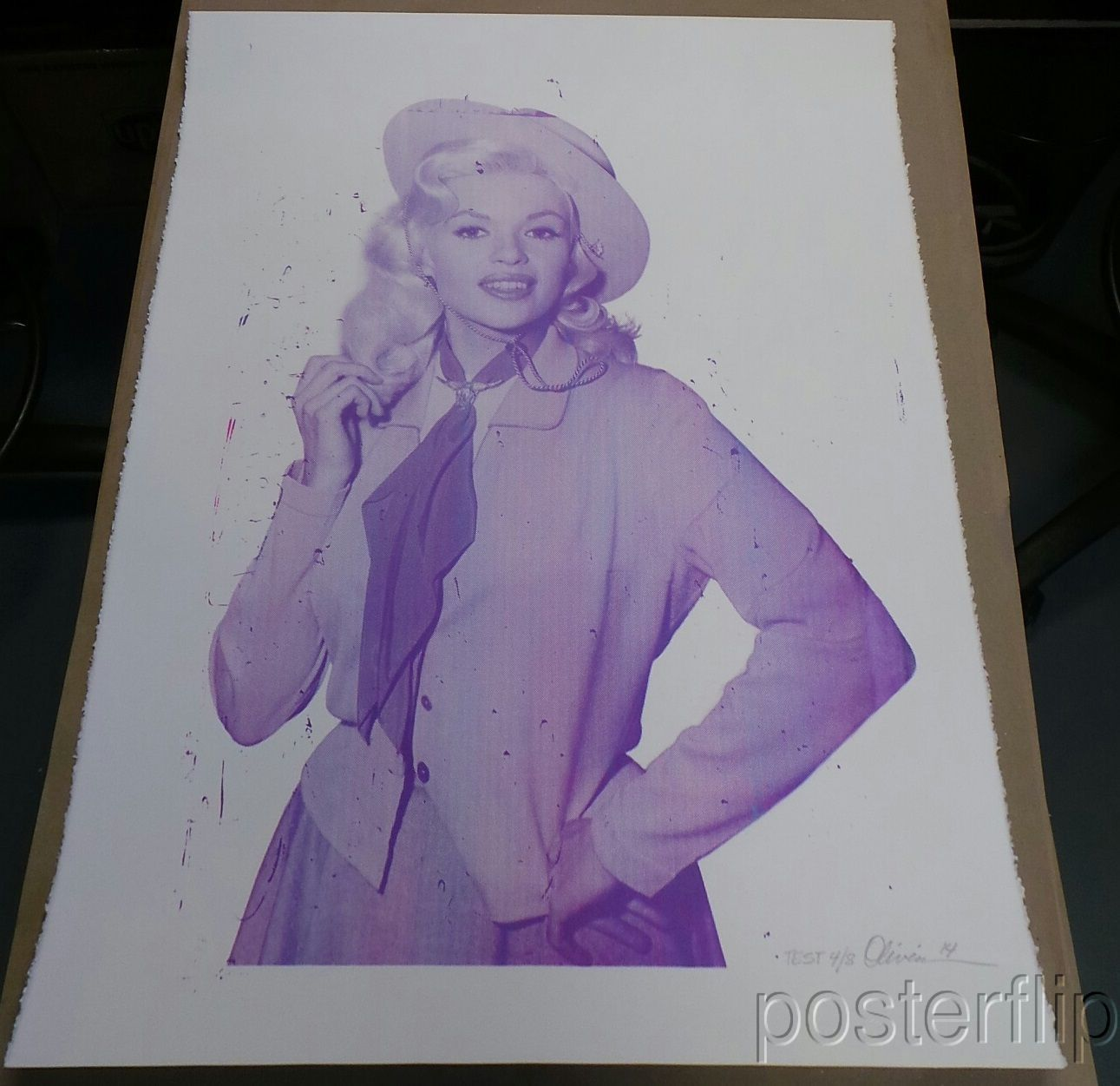 Oliveira Jayne Purple Pink Blue Test Limited Screenprint Signed/Numbered xx/8