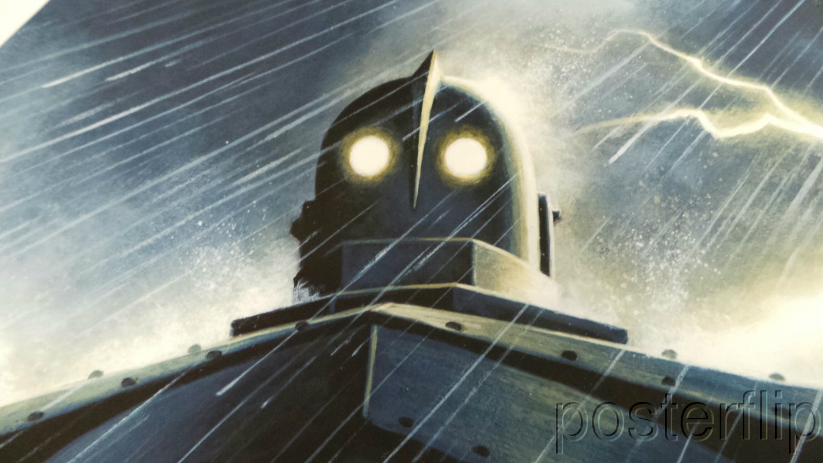 Mondo Iron Giant Rain Limited Screenprint Poster xx/170 Jason Edmiston Numbered