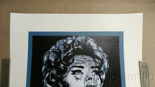 LINDA EVANGELISTA Fuji Blue Pop Edition K Guy S/N'd 1/1 Screen Print Poster