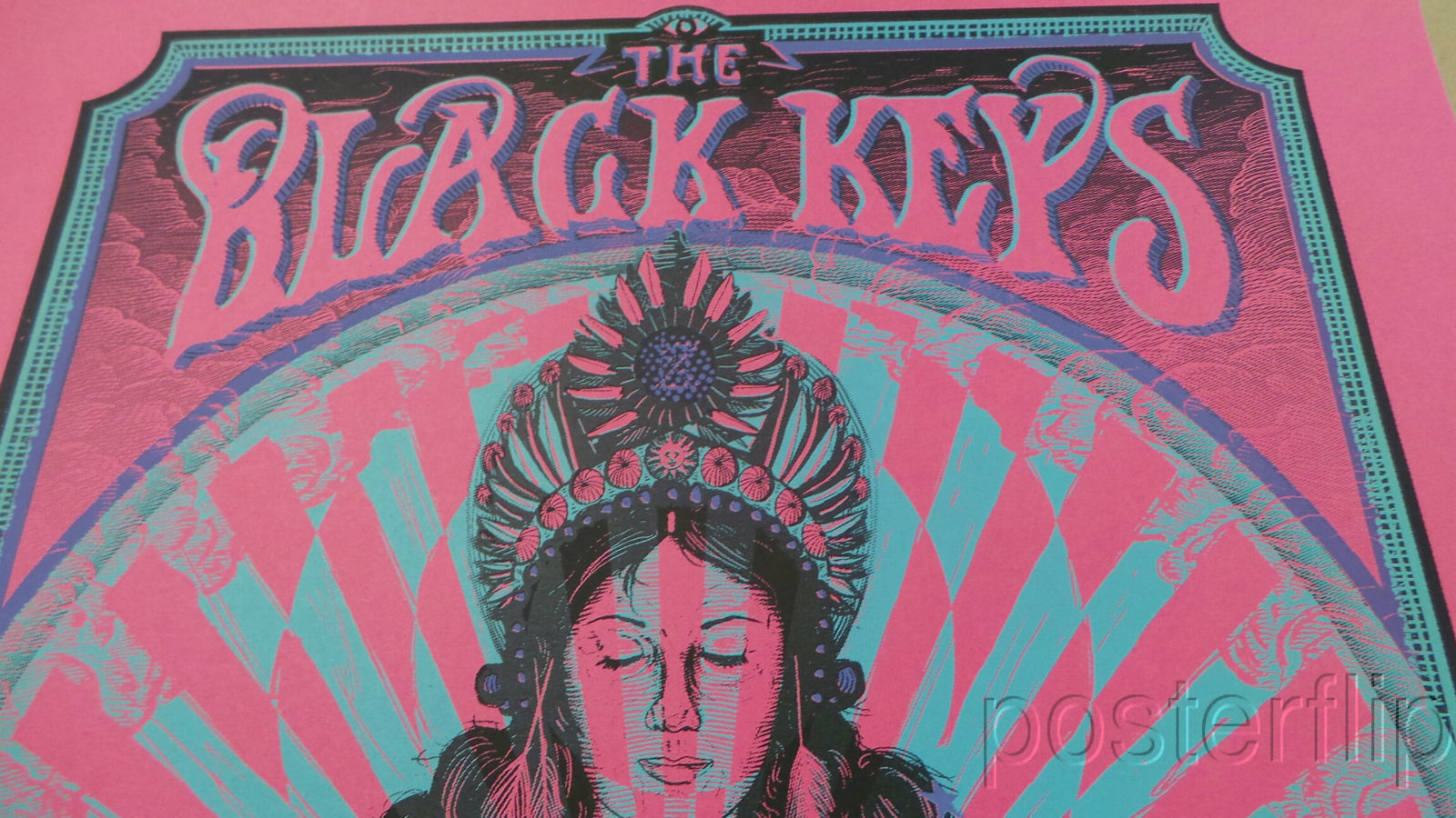 Black Keys Pittsburgh 2014 Variant Zeb Love Limited xx/15 Screen Print Poster