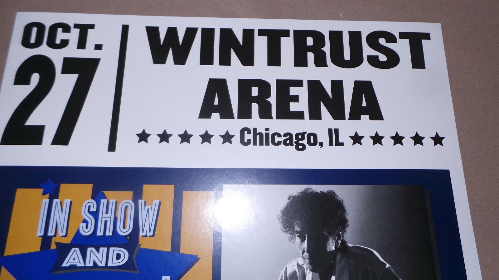 Bob Dylan Wintrust Arena Chicago Illinois 10/27/2017 Show Poster Unsigned No #