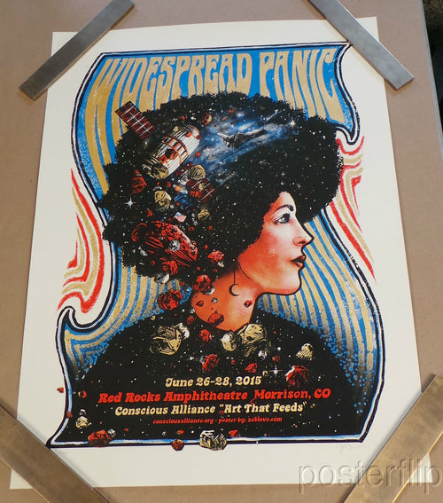 Widespread Panic Red Rocks CO AP Edition Zeb Love xx/50 S/N'd