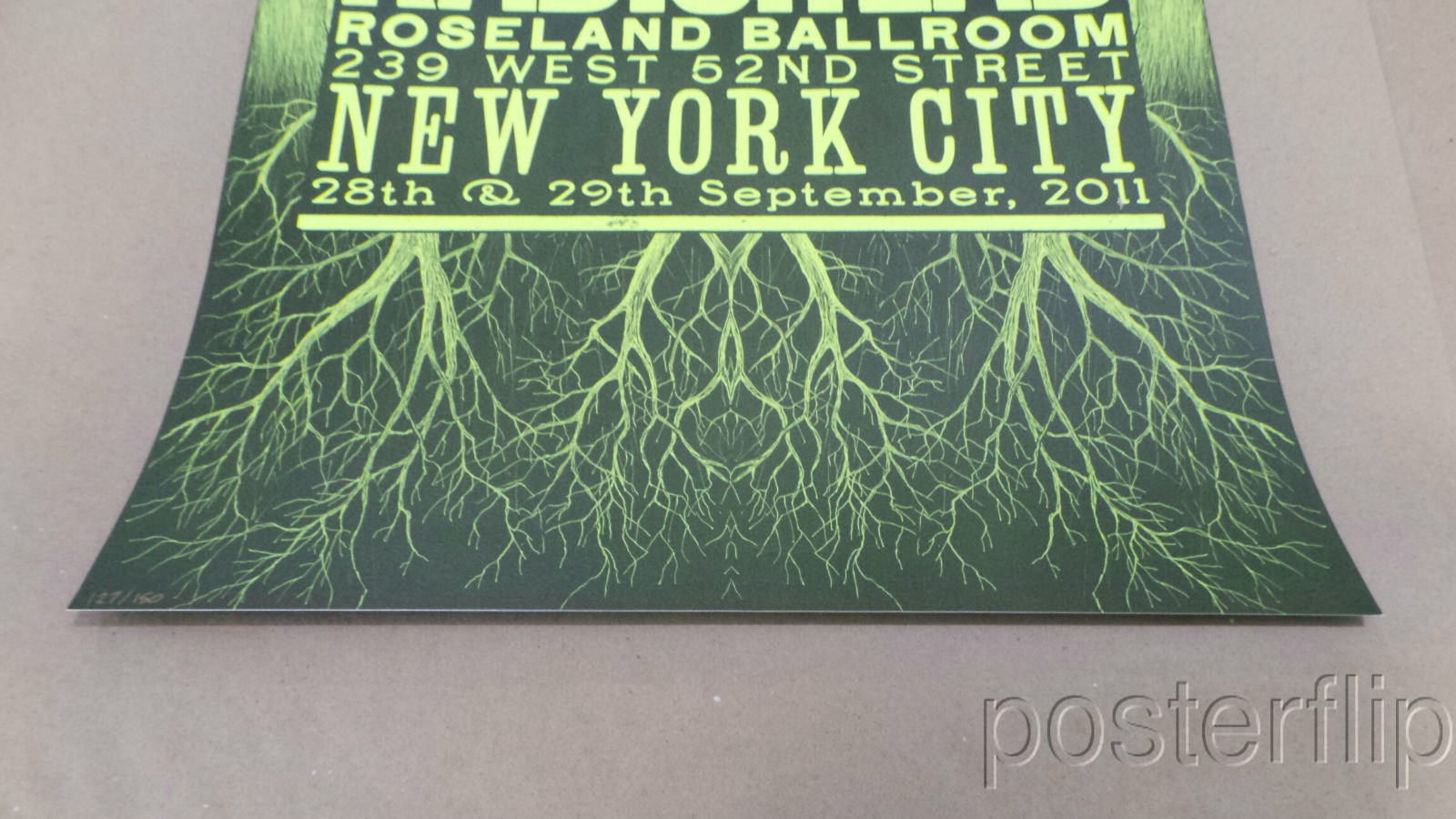 Radiohead Roseland Ballroom NYC 2011 Posters all 4 colors Edition xx/150 Framed