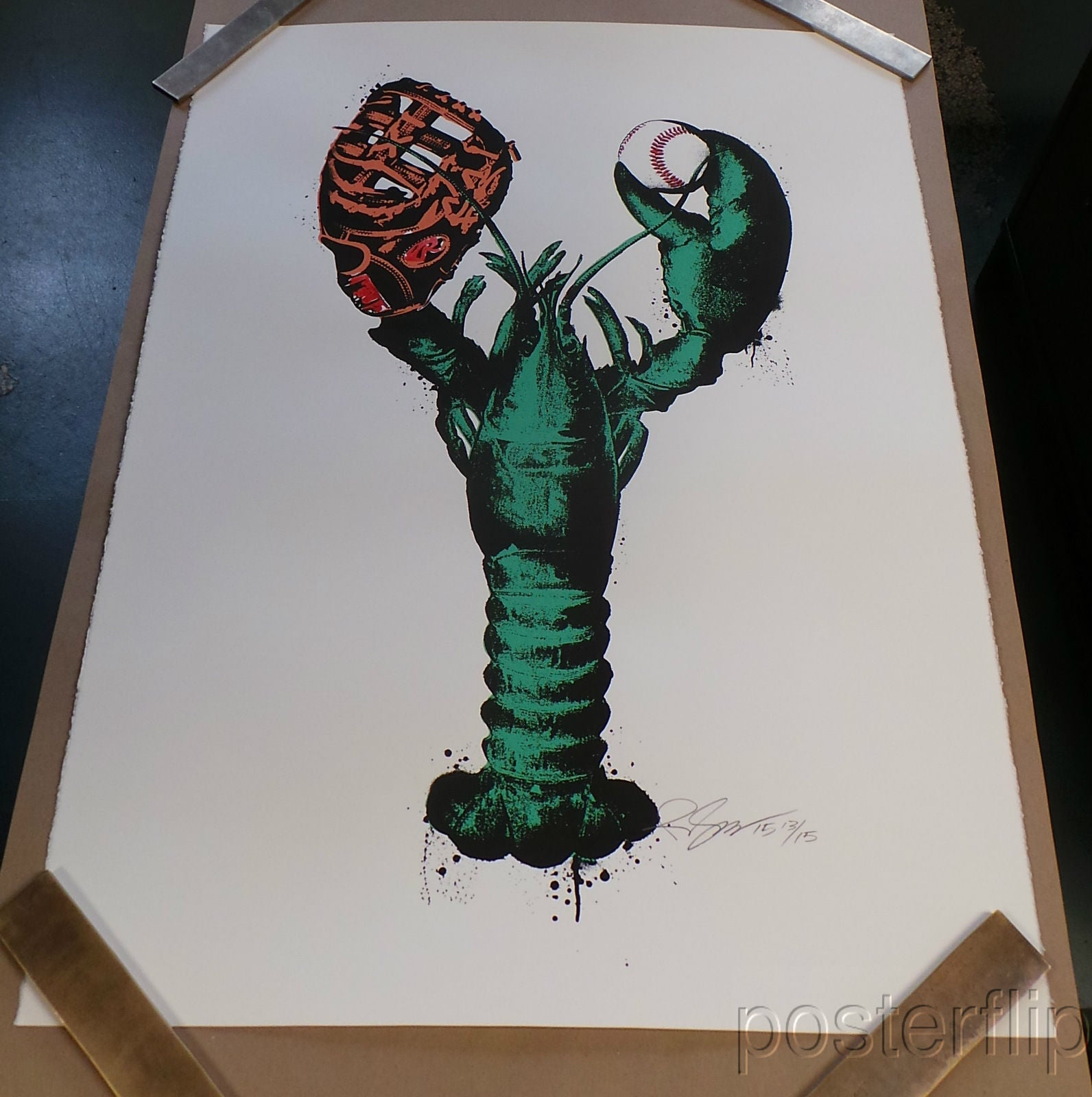 Green Monsta Screenprint Poster Gagnon Limited Edition xx/15, Signed/Numbered