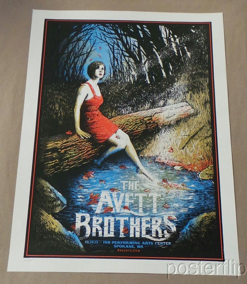 The Avett Brothers Spokane WA 2013 Screenprint Poster xx/200 Zeb Love S/N'd
