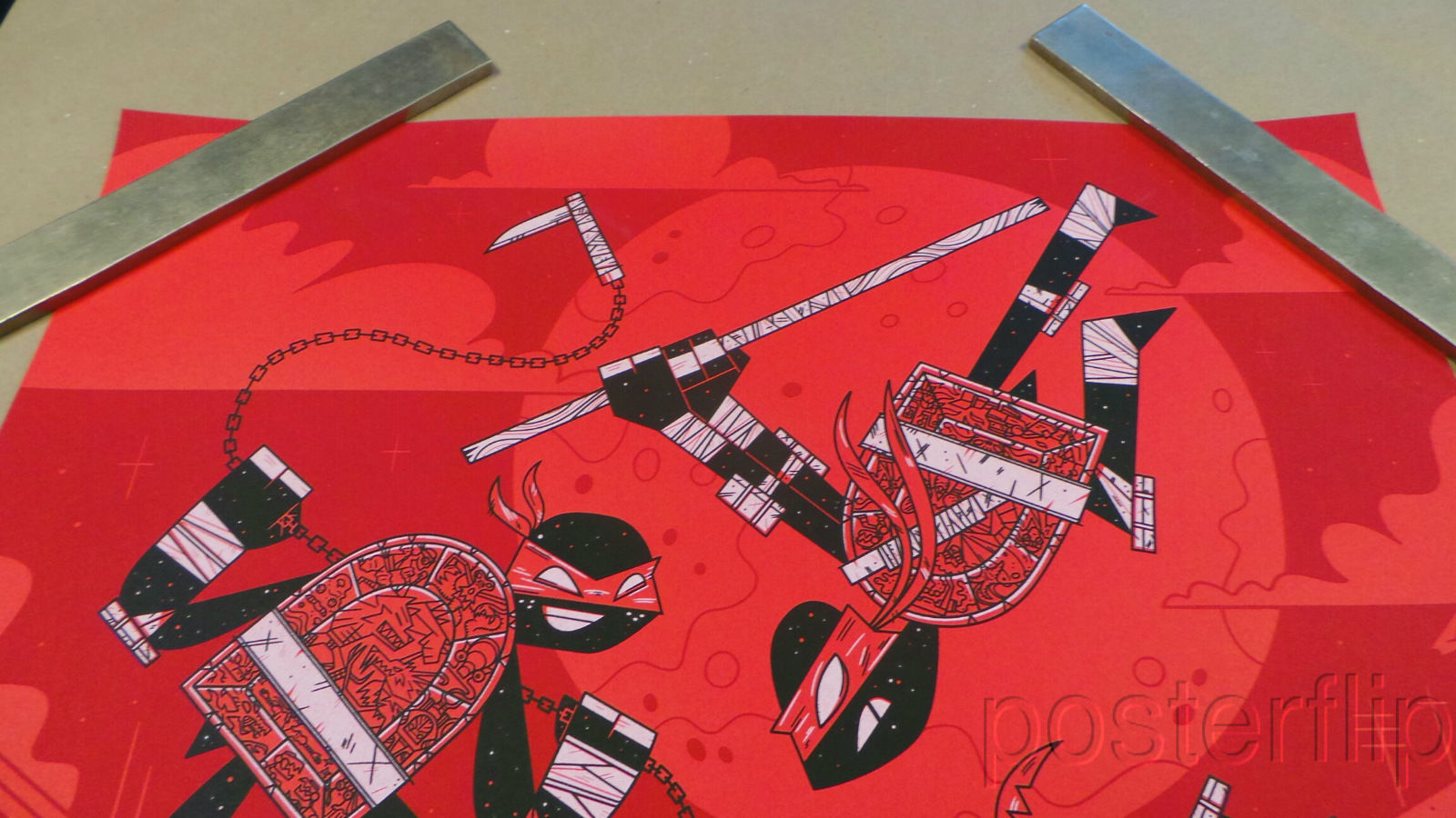 Teenage Mutant Ninja Turtles xx/175 Andrew Kolb Screen Print Poster Mondo
