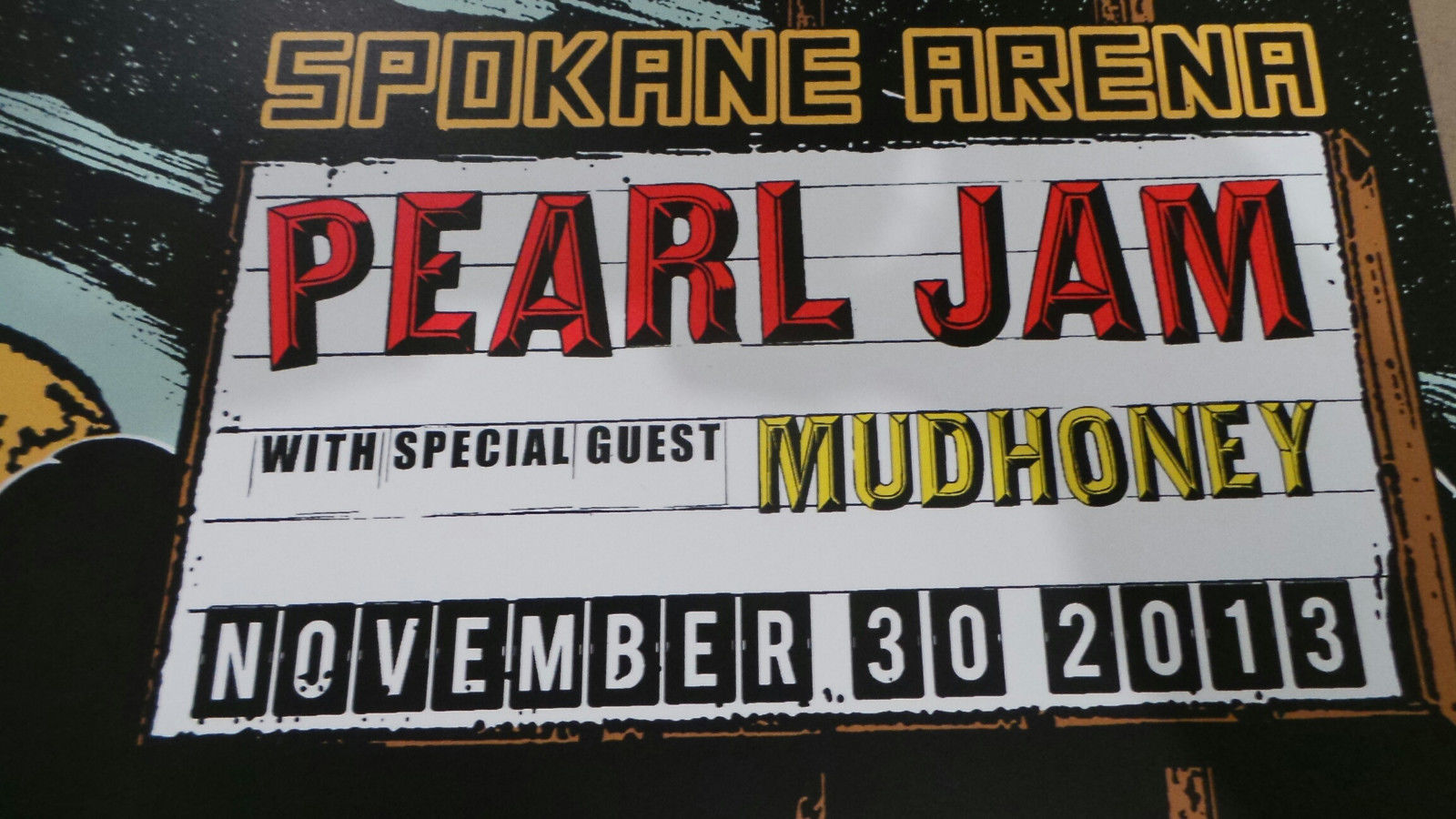 Pearl Jam Spokane WA 2013 Screenprint Poster Faile Artist Edition xx/100