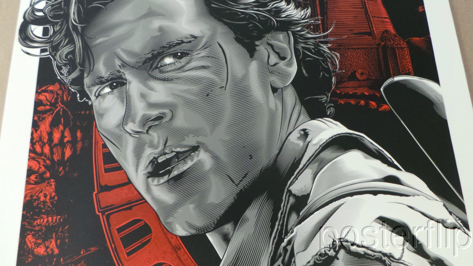 Army of Darkness Red Regular Screenprint Poster xx/150 Skuzzles Jeff Boyes