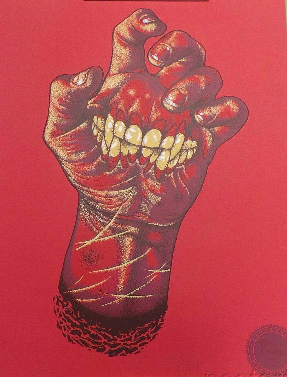 John Baizley Hand2Mouth Screenprint Poster Red Hot Edition Baroness