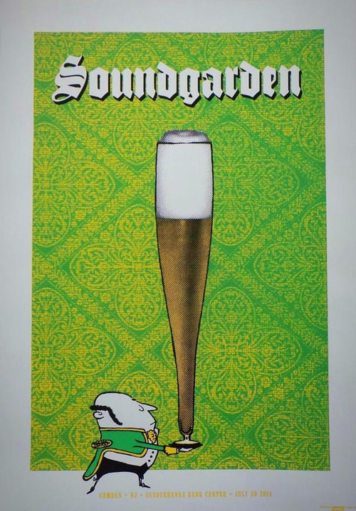 Soundgarden Camden NJ Screenprint Poster 2014 Ames Bros xx/100 S/N'd