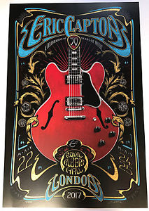 Eric Clapton Poster Royal Albert Hall London Adam Pobiak Screenprint May 2017