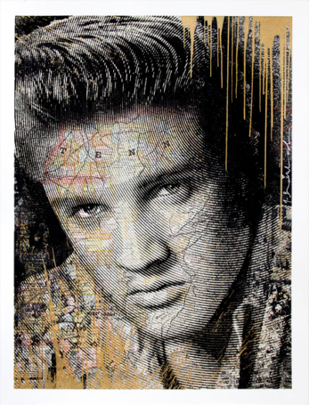 Mr. Brainwash King Of Rock GOLD EDITION Elvis Presley 2017 S/N xx/50 Screenprint Poster