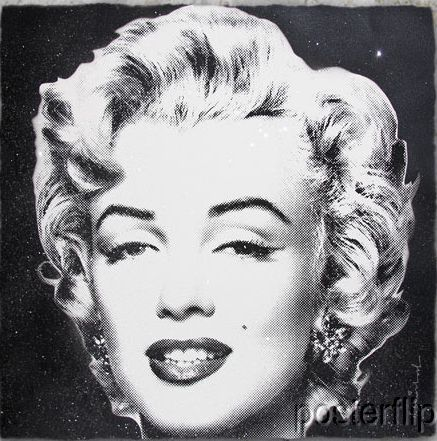 Mr. Brainwash Diamond Girl Black Background Edition xx/90 S/Ned Screenprint Poster