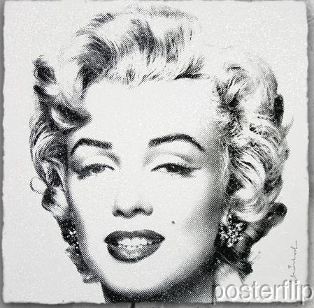Mr. Brainwash Diamond Girl Black Edition xx/90 S/Ned Screenprint Poster