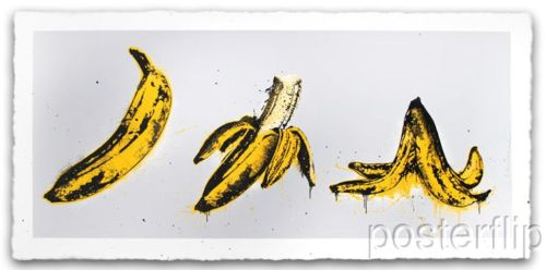 Banana Split Grey Screenprint Poster Mr. Brainwash xx/70 S/N'd Street Art