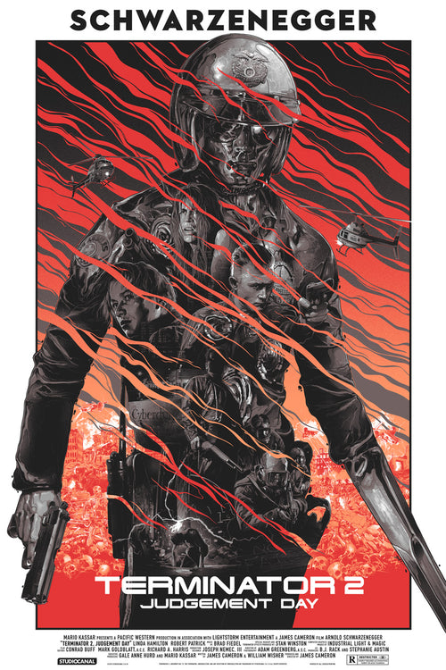 Terminator 2: Judgment Day Screenprinted Poster Paper Variant Edition by Gabz - 2015 xx/175