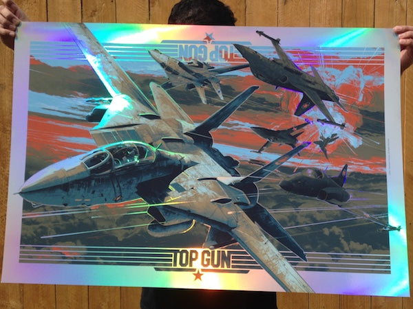 "TopGun (2014 OCE) ""Magic Hour""by Screenprinted Poster"